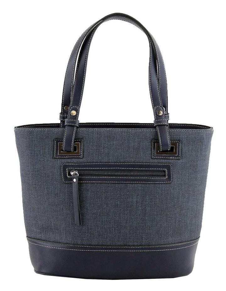 CSQ238 Irene Double Handle Blue Tote Bag image 3