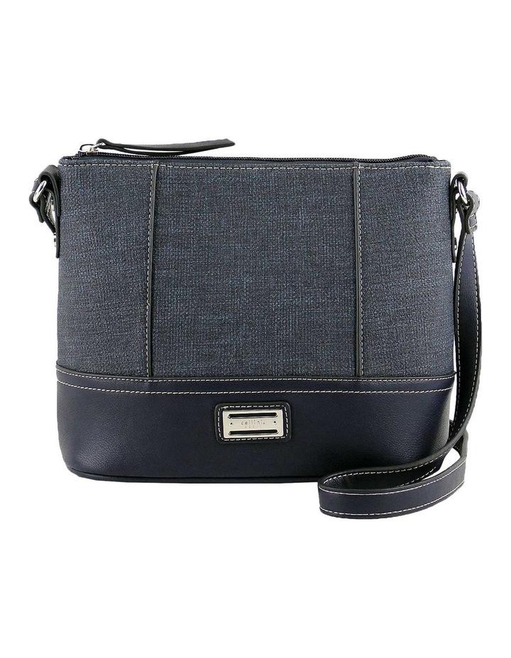 CSQ240 Irene Zip Top Blue Crossbody Bag image 1