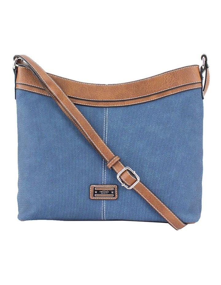 Edith Blue Zip Top Crossbody Bag image 1