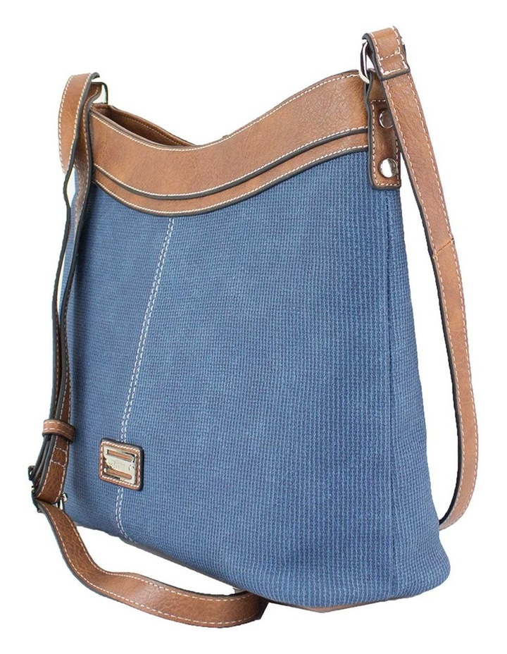 Edith Blue Zip Top Crossbody Bag image 2
