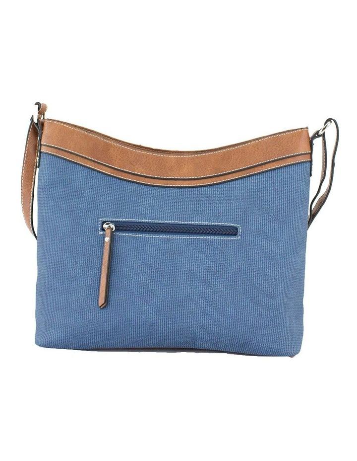 Edith Blue Zip Top Crossbody Bag image 3