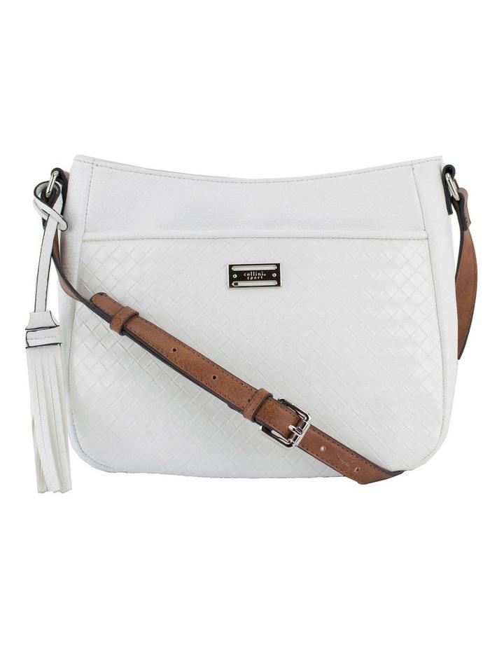 Helen White Zip Top Crossbody Bag image 1