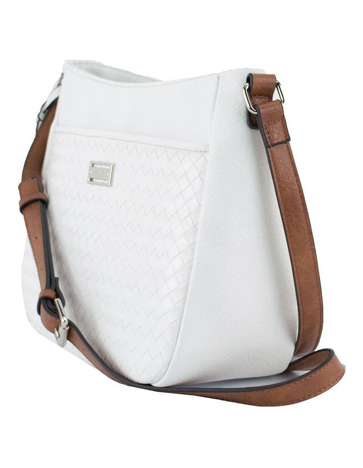 Helen White Zip Top Crossbody Bag image 2