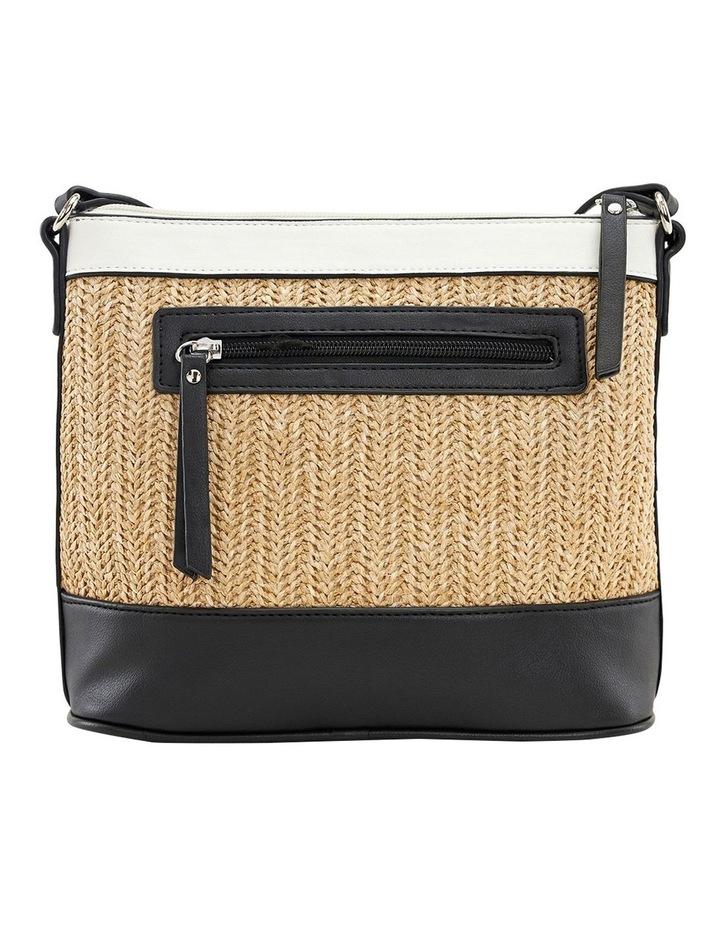 Carla Beige Multi Zip Top Crossbody Bag image 3