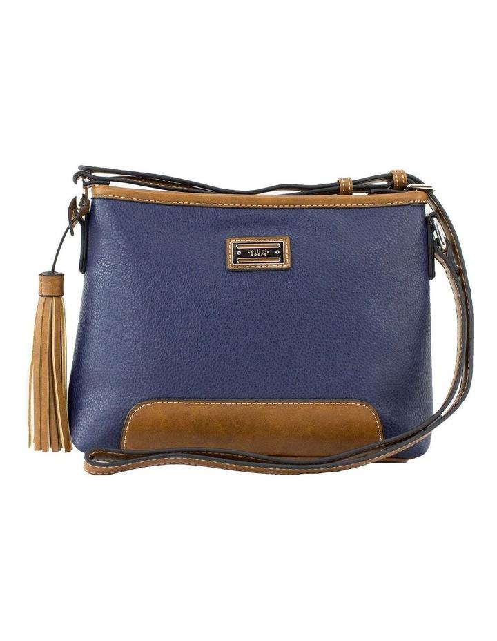 Whitney Blue Multi Zip Top Crossbody Bag image 1