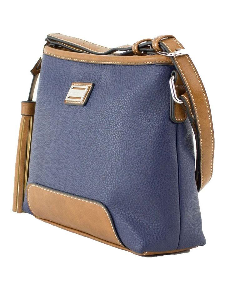 Whitney Blue Multi Zip Top Crossbody Bag image 2