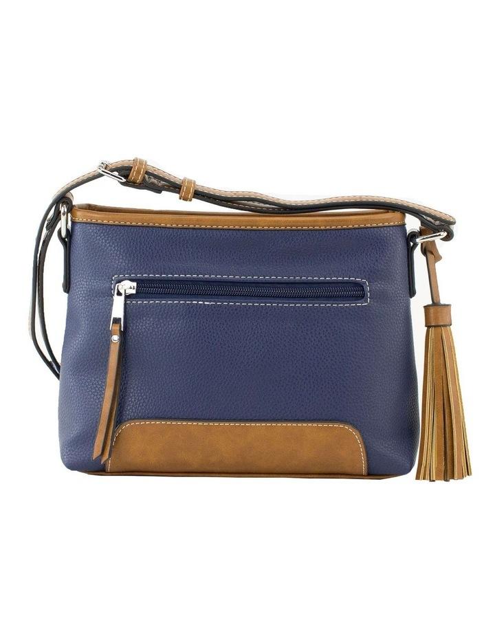 Whitney Blue Multi Zip Top Crossbody Bag image 3