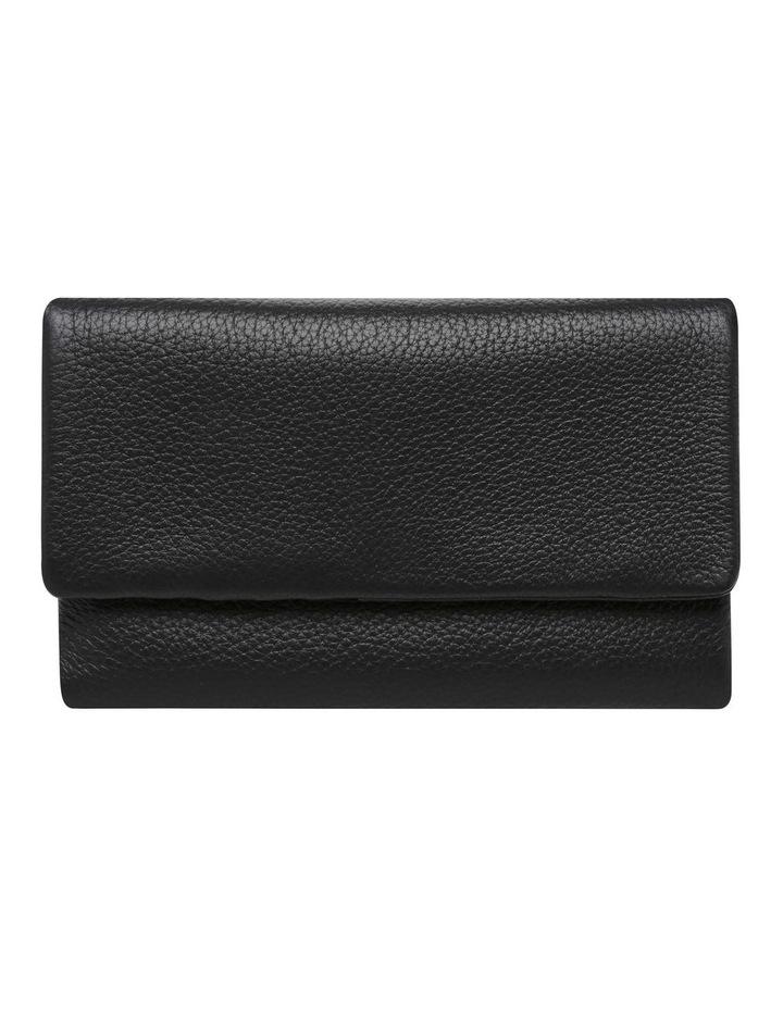 SA1681 Audrey Pebble Flap Over Black Wallet image 1