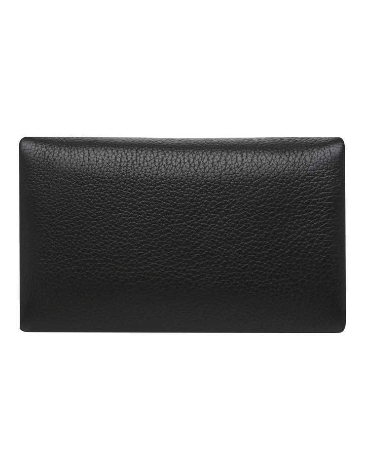 SA1681 Audrey Pebble Flap Over Black Wallet image 4