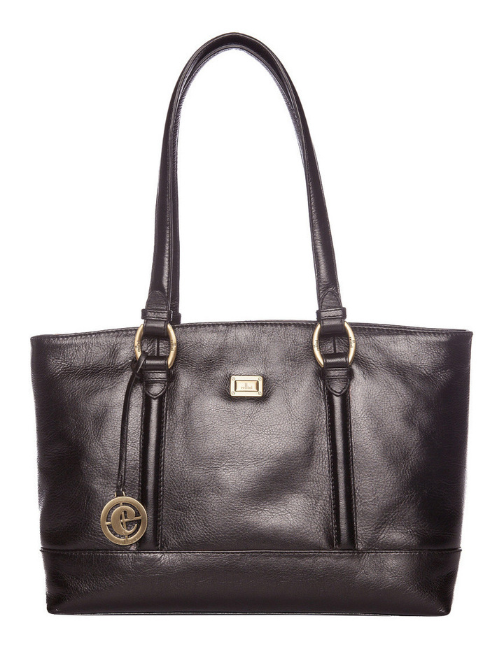 Double Handle Tote in Black CLG013 image 1