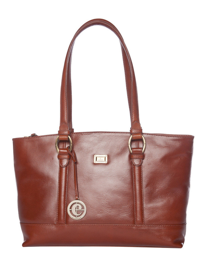 Double Handle Tote in Tan image 1