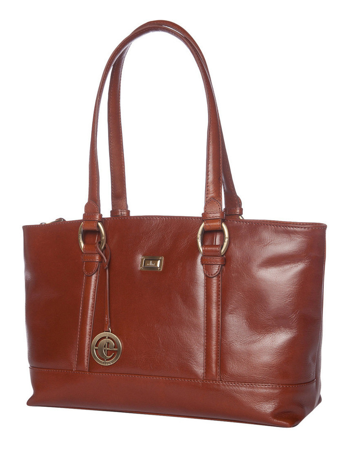Double Handle Tote in Tan image 2