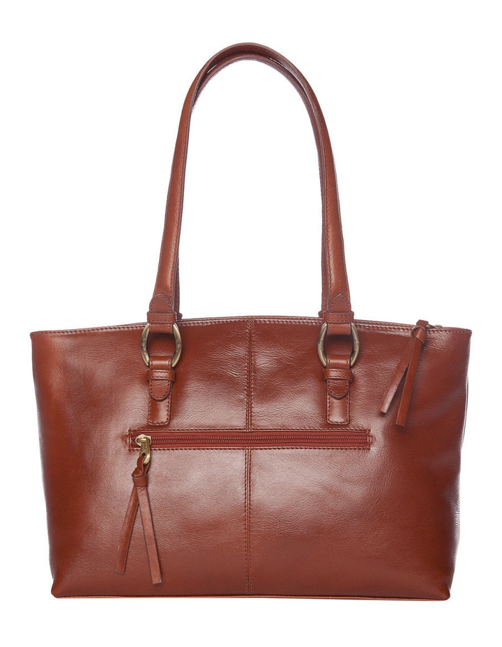 Double Handle Tote in Tan image 3