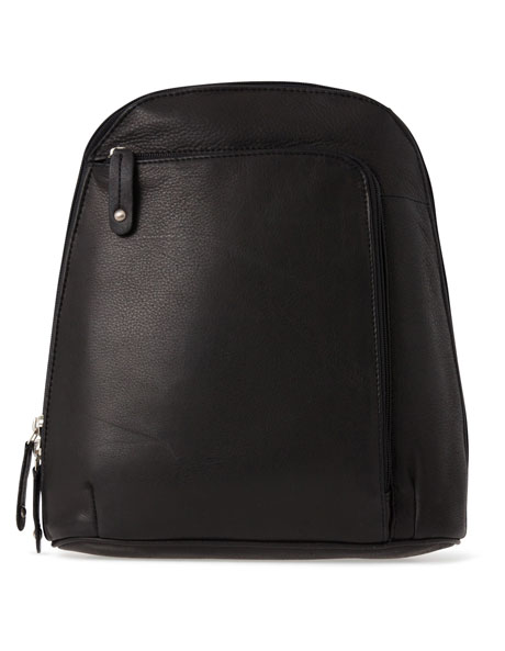 Leather Front Zip Backpack 3990 image 1