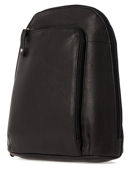 Leather Front Zip Backpack 3990 image 2