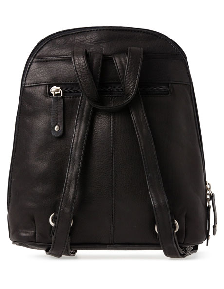 Leather Front Zip Backpack 3990 image 3