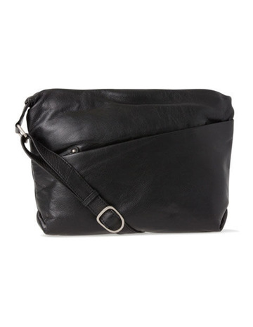 Joan WeiszLeather Front Zip Pocket Shoulder Bag 2812 BLK. Joan Weisz Leather  Front Zip Pocket Shoulder Bag 2812 BLK 1cc4f25cd54e8