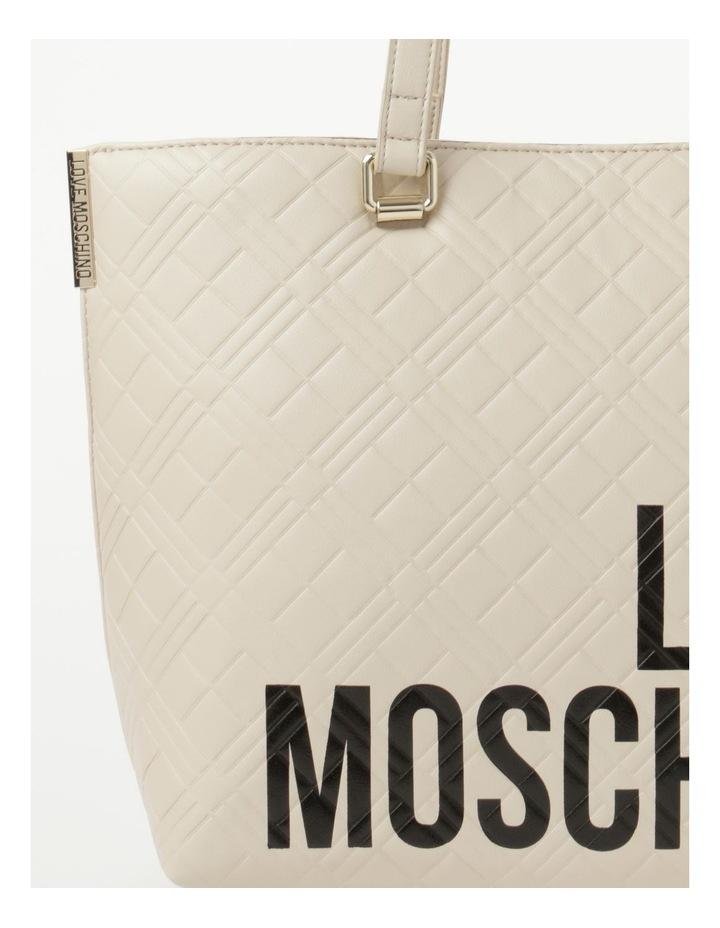 Emboss Logo Double Handle Tote Bag image 3