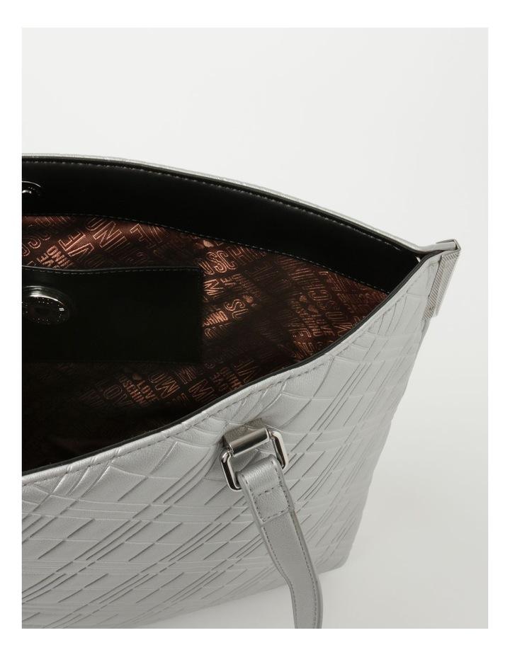 Emboss Logo Double Handle Tote Bag image 5