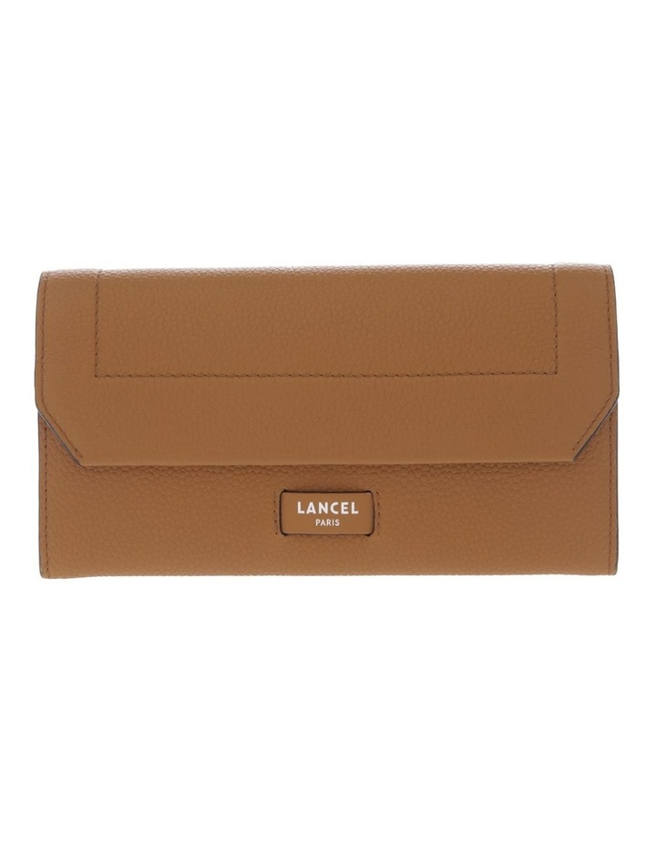 Ninon Flap-Over Wallet in Camel Brown image 1