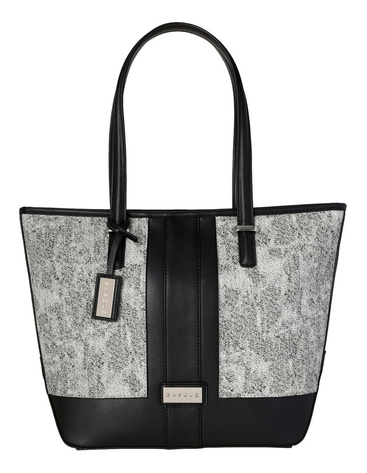 T Front Tote in Black/White image 1
