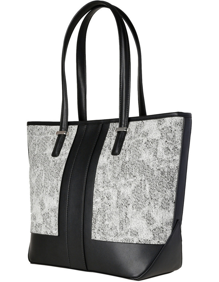 T Front Tote in Black/White image 2