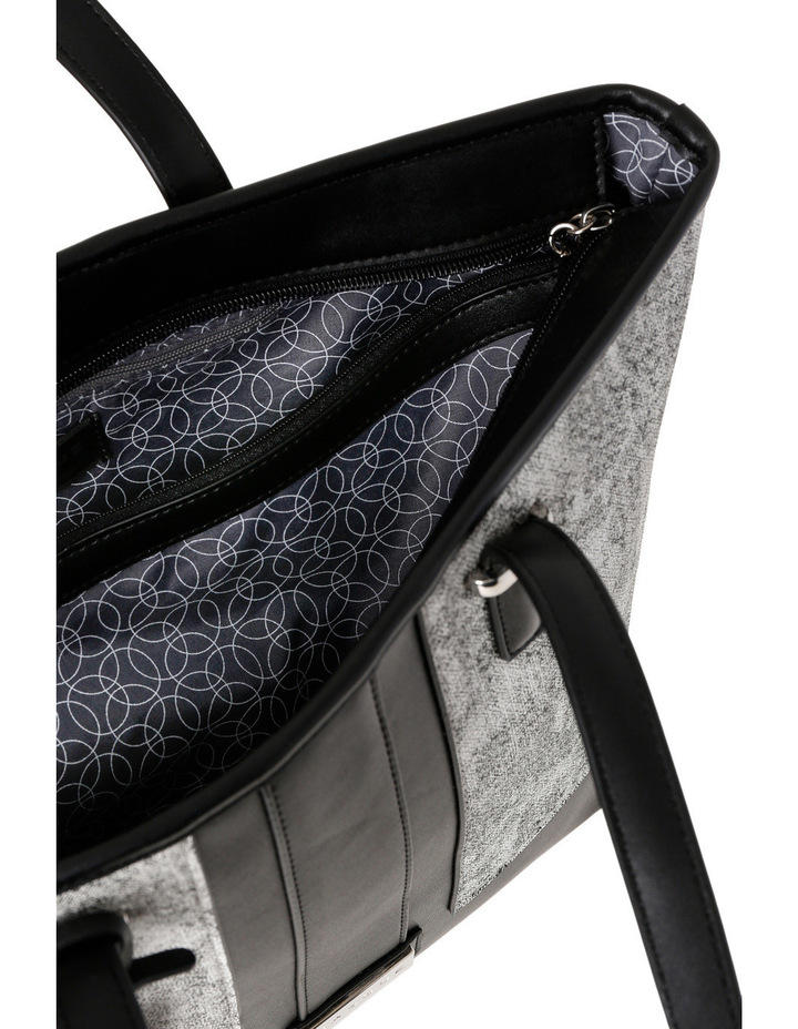 T Front Tote in Black/White image 4