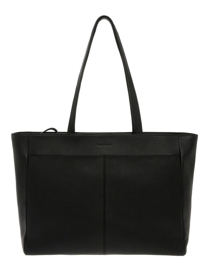 Venice Double Handle Black Tote Bag image 1