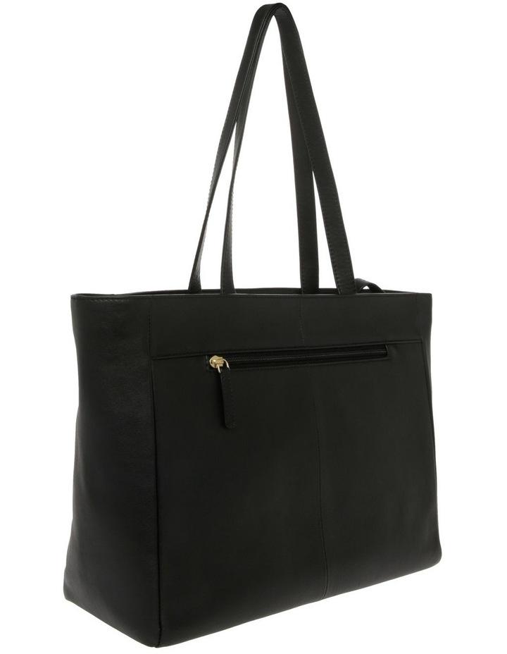 Venice Double Handle Black Tote Bag image 2