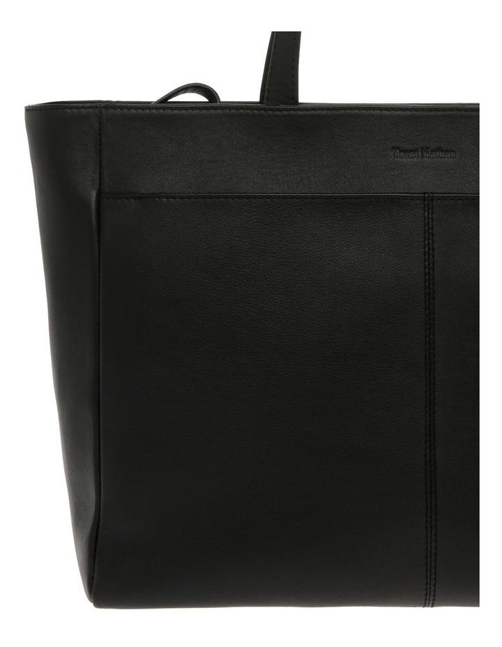 Venice Double Handle Black Tote Bag image 3