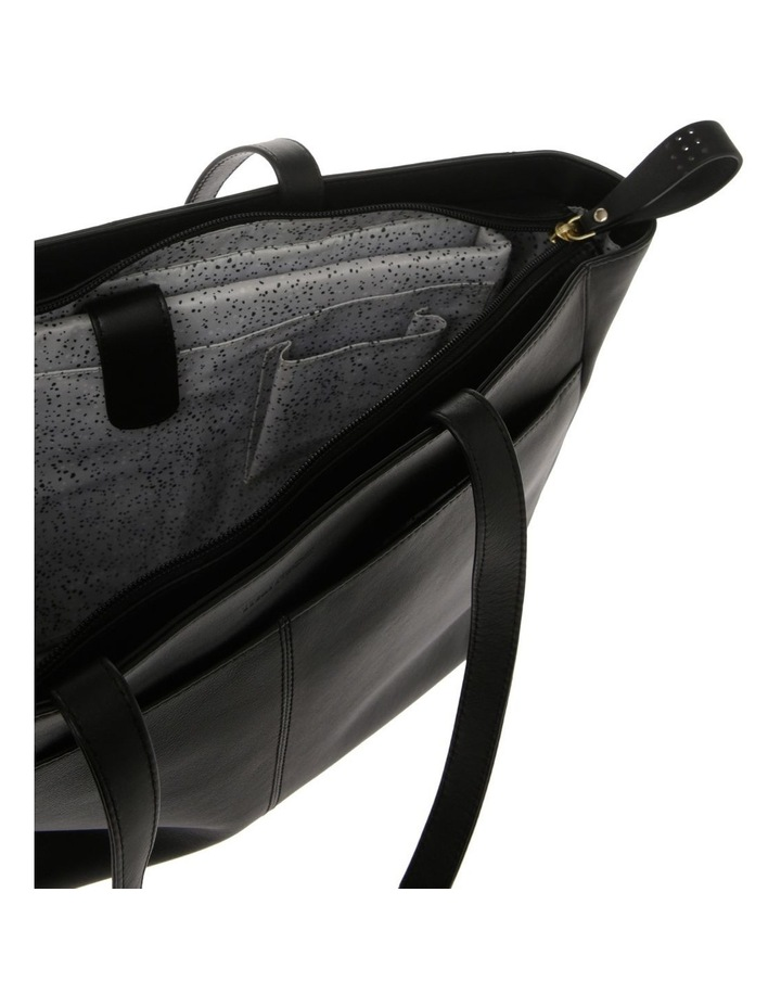 Venice Double Handle Black Tote Bag image 4