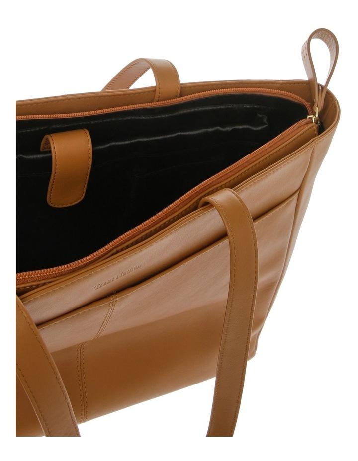 Venice Double Handle Tan Tote Bag image 4