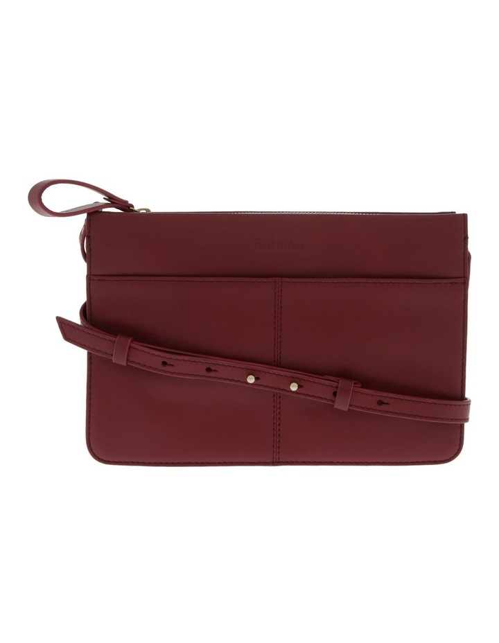 Venice Zip Top Burgundy Crossbody Bag image 1
