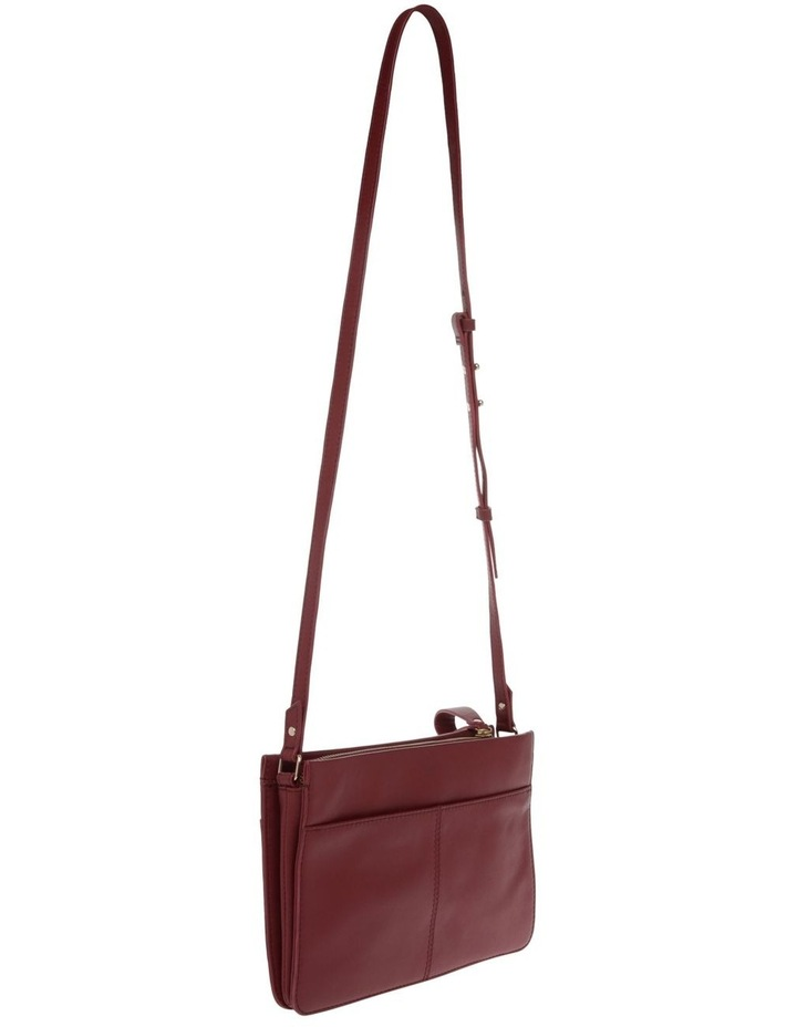 Venice Zip Top Burgundy Crossbody Bag image 2