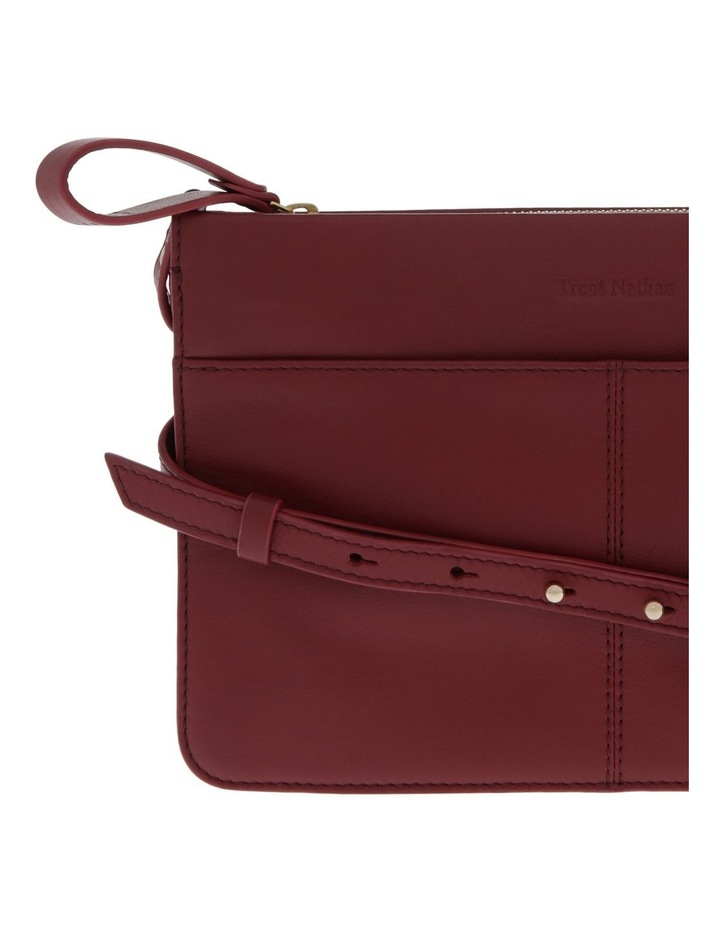 Venice Zip Top Burgundy Crossbody Bag image 3