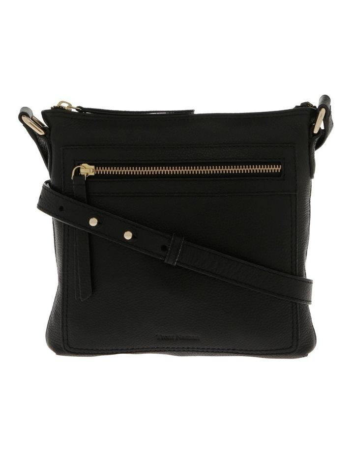 Vienna Zip Top Black Crossbody Bag image 1