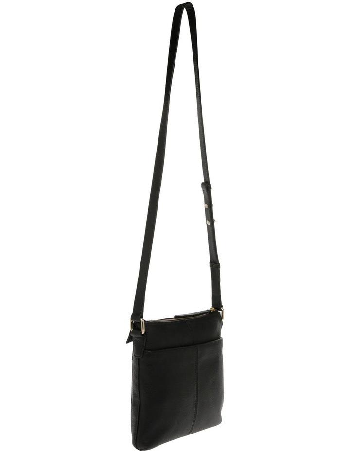 Vienna Zip Top Black Crossbody Bag image 2