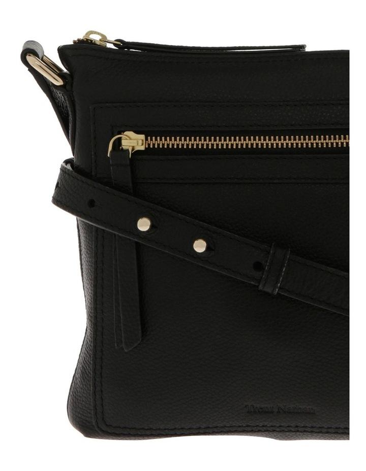 Vienna Zip Top Black Crossbody Bag image 3
