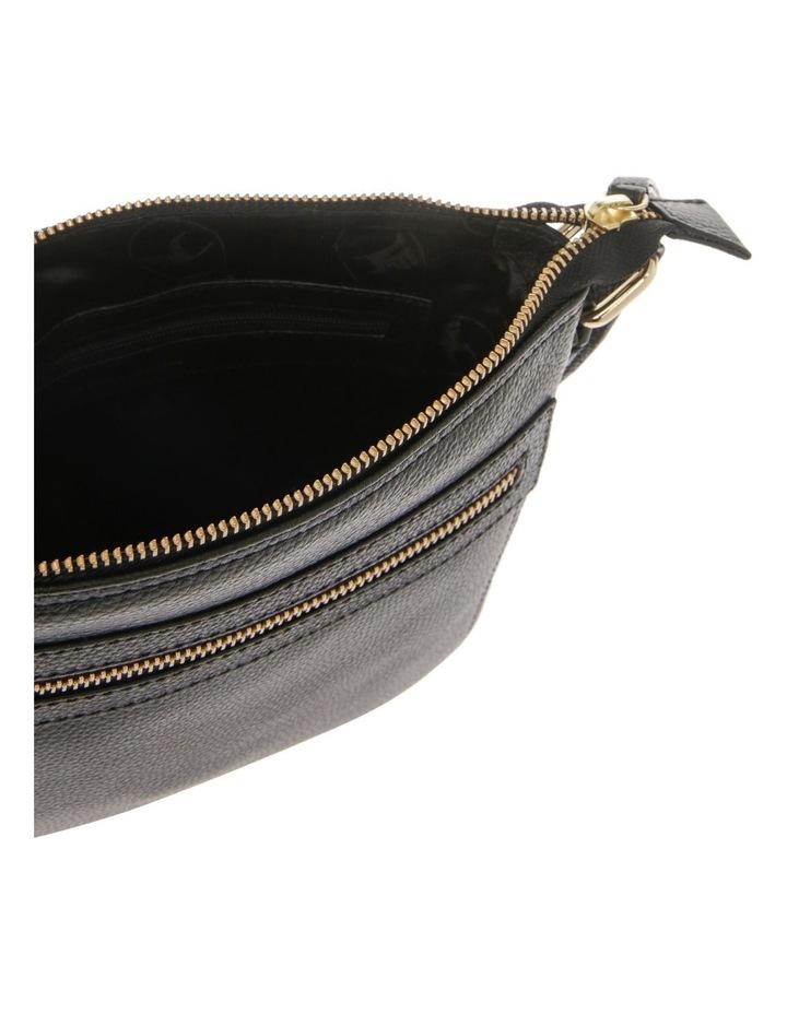 Vienna Zip Top Black Crossbody Bag image 4