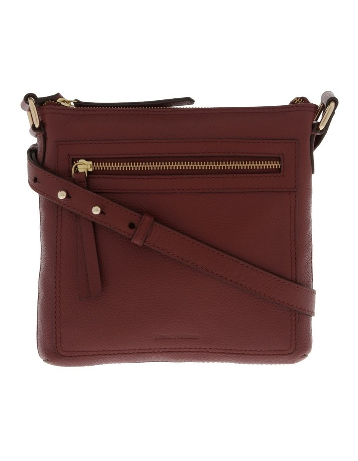 Vienna Zip Top Burgundy Crossbody Bag image 1