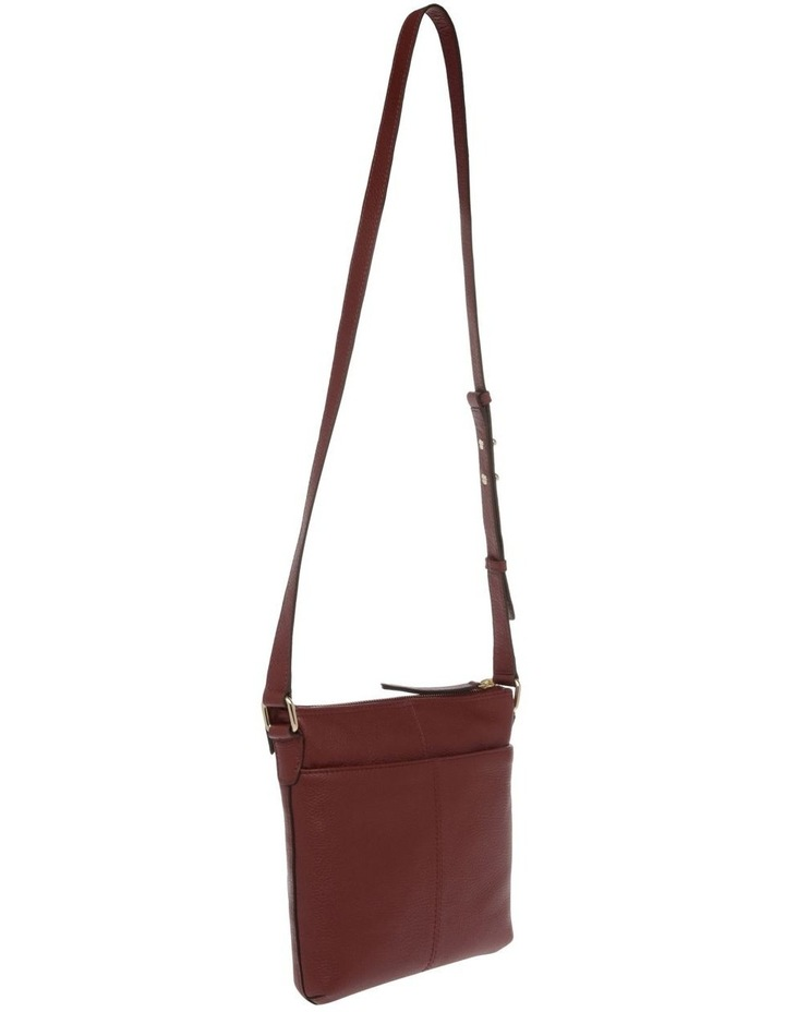 Vienna Zip Top Burgundy Crossbody Bag image 2