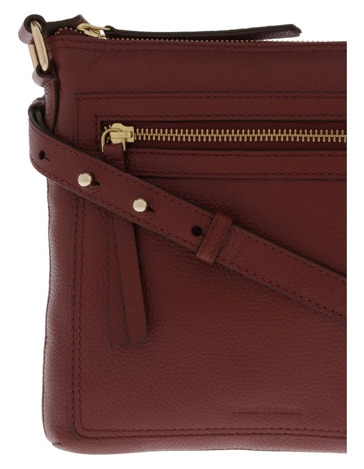 Vienna Zip Top Burgundy Crossbody Bag image 3