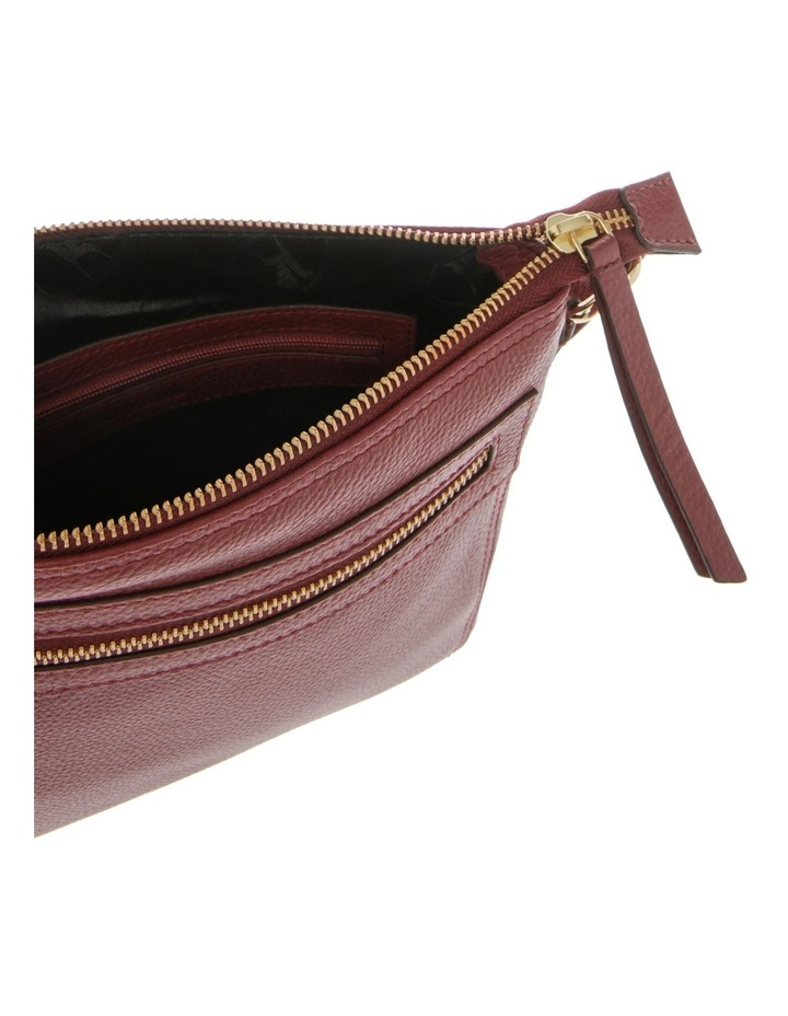 Vienna Zip Top Burgundy Crossbody Bag image 4