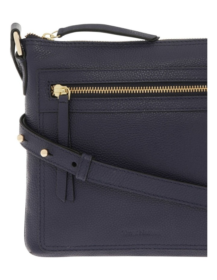 Vienna Zip Top Navy Crossbody Bag image 3