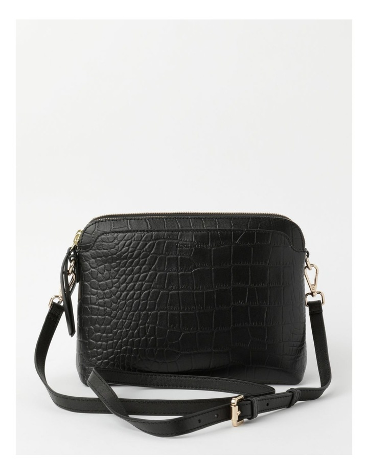 Segovia Croc Crossbody Bag - Black image 1