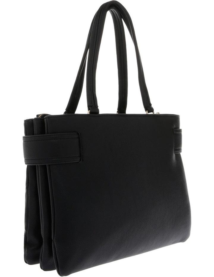 Stephanie Double Handle Black Tote Bag image 2