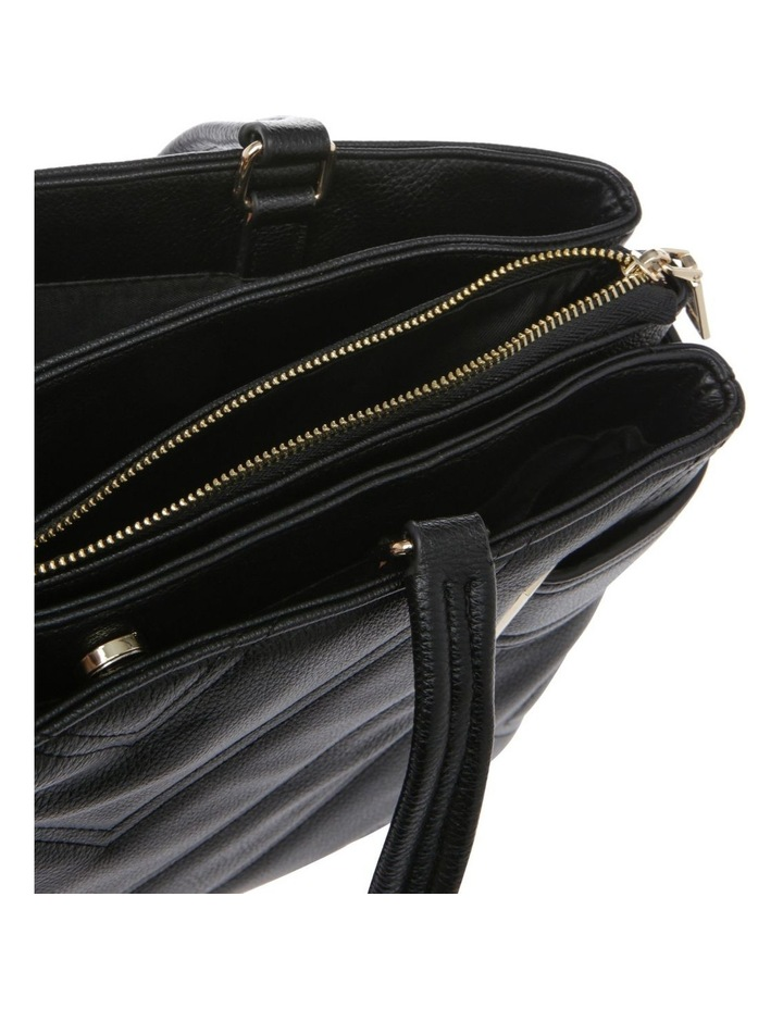 Stephanie Double Handle Black Tote Bag image 4