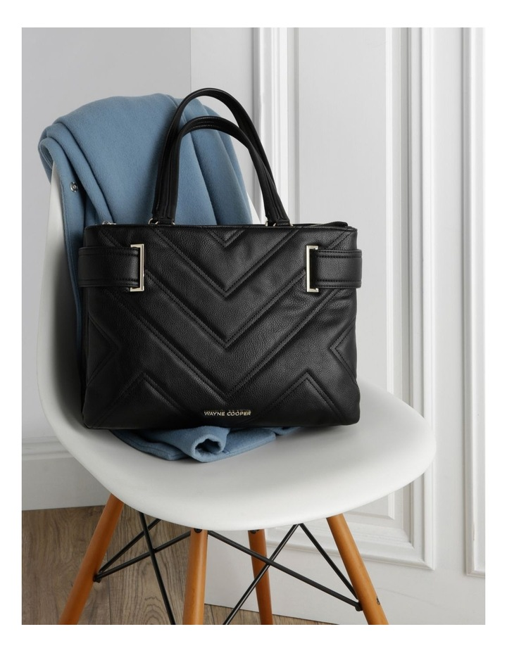 Stephanie Double Handle Black Tote Bag image 5