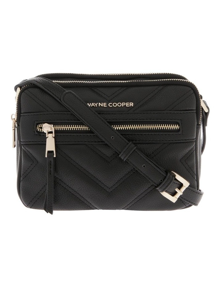 Stephanie Zip Top Black Crossbody Bag image 1