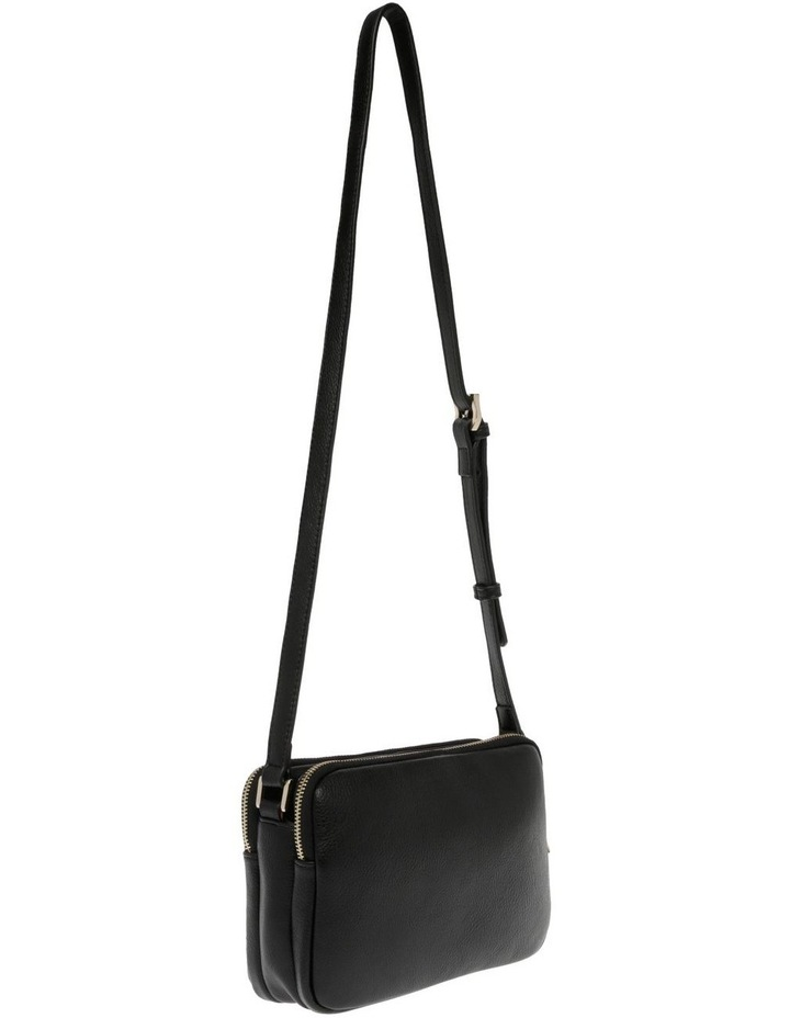 Stephanie Zip Top Black Crossbody Bag image 2